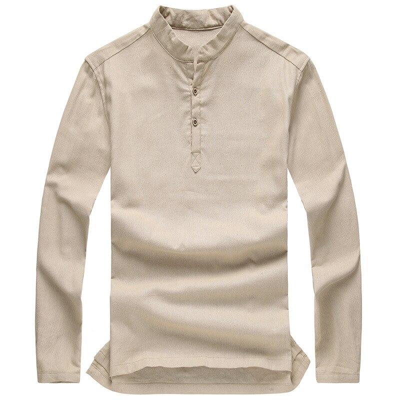 Popular Linen Collarless Shirts for Men-Buy Cheap Linen Collarless ...