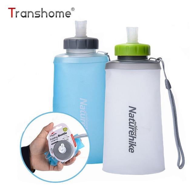 Transhome botella de agua plegable 500 ml 750 ml gran capacidad creativa portátil de silicona hervidor drinkles agua deportes al aire libre