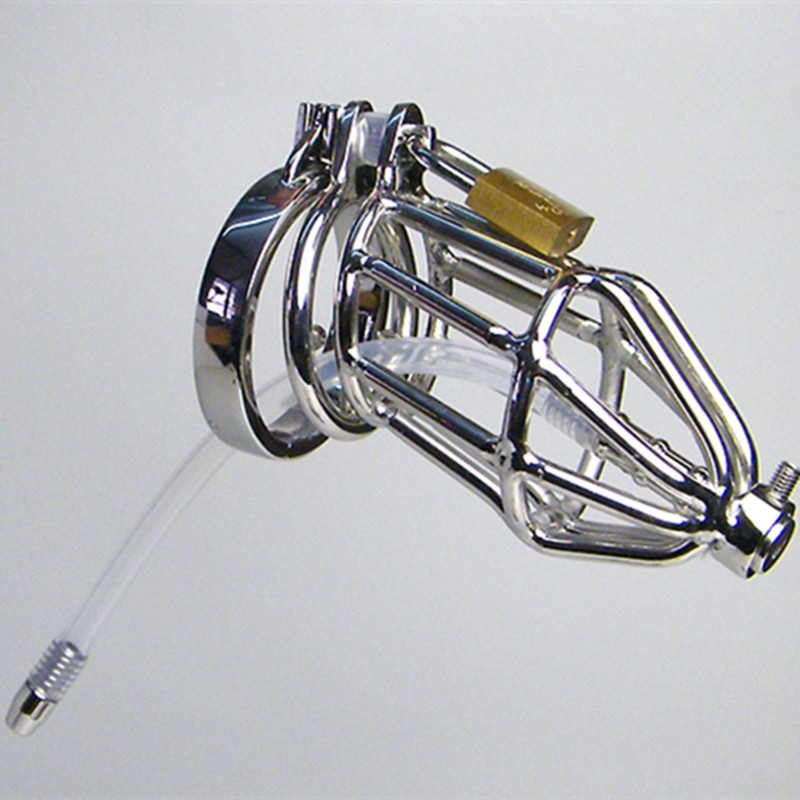 купить Stainless Steel Cock Rings Penis Cage Metal Urethral Dilator Catheter Male Chastity Devices Sex Products Adult Toys For Men Q930 недорого