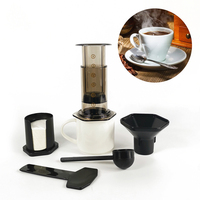 350ml New Filter Glass Espresso Coffee Maker Portable Cafe French Press CafeCoffee Pot For AeroPress Machine