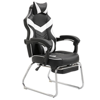 Adjustable Gaming Chair Gaming Racing Office Modern Gaming Chair Office Computer Simple Around Bow Seat Synthetic Leather