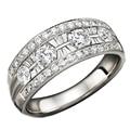 Lujoso Certificar 1.2 CTTW Natural Diamond 18 K Oro Blanco Anillo De Diamantes Reales Anillo de Compromiso Joyería de Oro Para Las Mujeres de La Boda bandas