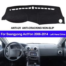 Cubierta de tablero de salpicadero de coche Ssangyong ActYon 2006, 2007, 2008, 2009, 2010, 2011, 2012, 2013, 2014