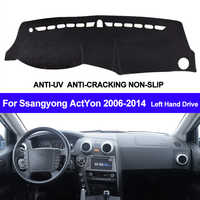 El tablero de instrumentos del coche del salpicadero para Ssangyong ActYon 2006, 2007, 2008, 2009, 2010, 2011, 2012, 2013, 2014 Auto sol sombra tablero de cubierta