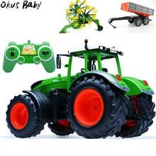 RC грузовик прицеп самосвал урожай 4 колеса RC трактор 2,4 г дистанционное управление трактор инженерные транспортные средства модель игрушки для детей Подарки