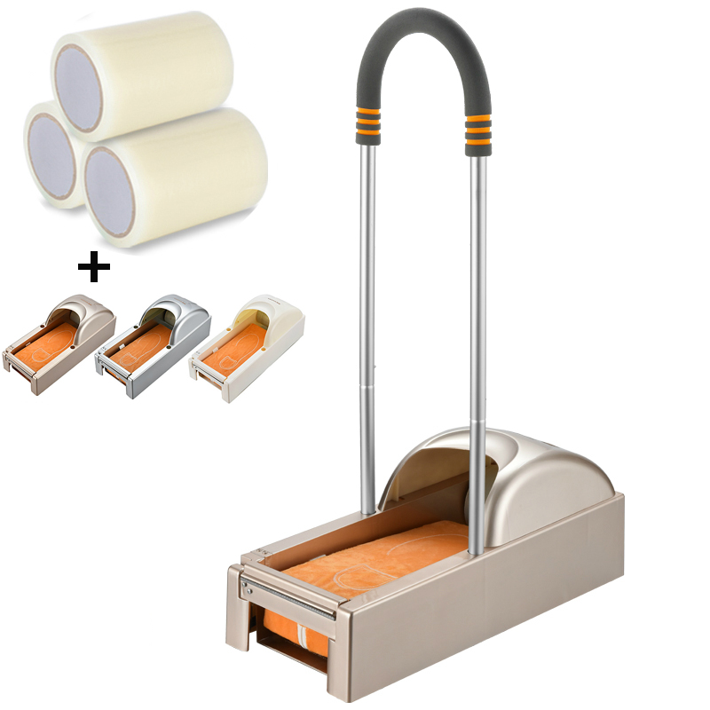 600/1200pairs Automatic Shoe Cover Membrane Dispenser With Film Sole Cover Household Hotel Office Time & Labor Saving Machine