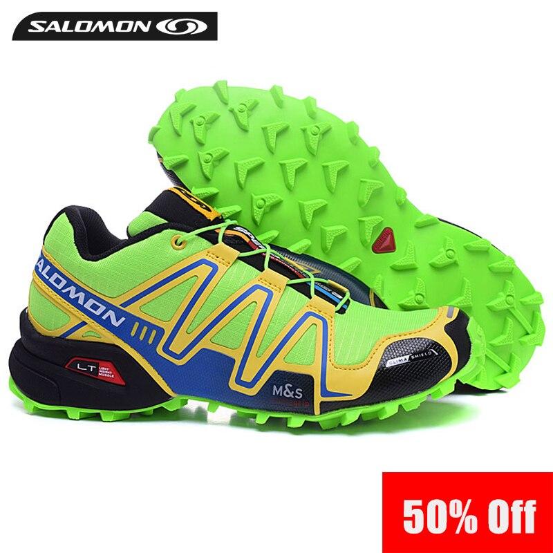 841994e833d3 2018 Salomon Speed Cross 3 CS Speedcross anti slip running Sneakers men  Outdoor cool light Shoes green Run breathable Eur 40 46-in Running Shoes  from Sports ...