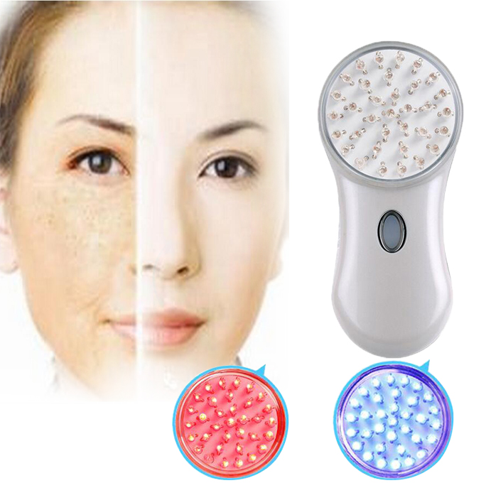 LED Photon Facial Massager Rejuvenation Wrinkle Facial Care Red-ray Whitening Activated Cell <font><b>Blu-ray</b></font> Remove Acne <font><b>treatment</b></font>