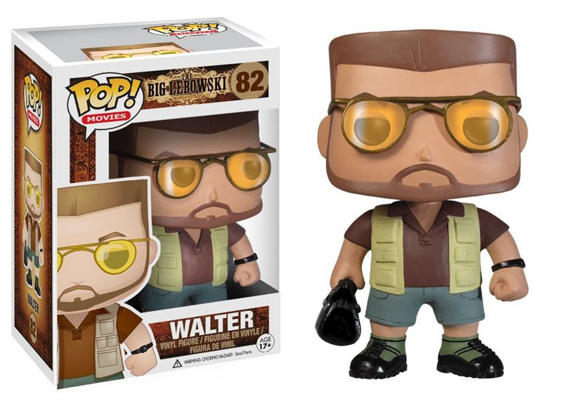 Official Funko pop Movies: The Big Lebowski - Walter Vinyl Action Figure Collectible Model Toy with Original Box exclusive funko pop official dc heroes wonder woman 177 blue dress action figure collectible model toy with original box