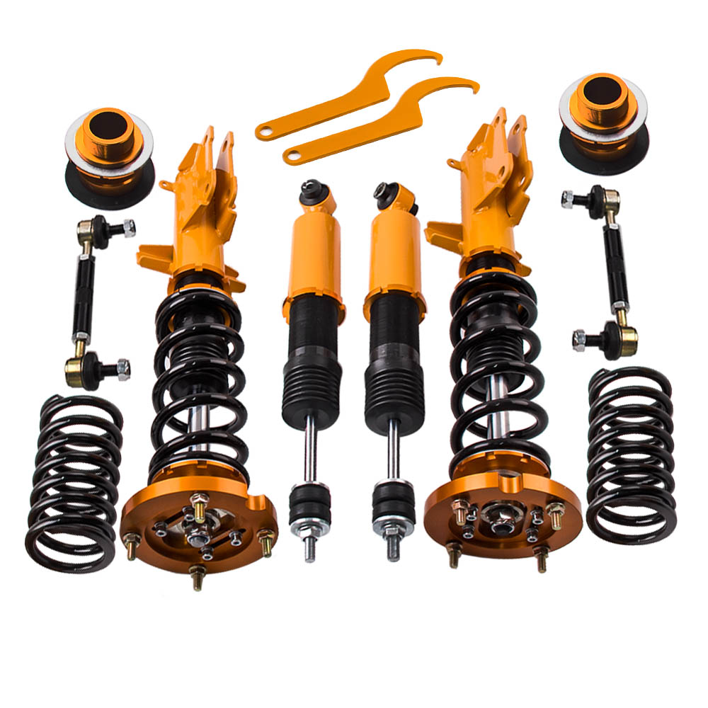 Coilovers Kits for Ford Mustang GT 05-14 Adjustable Height Top Hats Coilover Suspension lowering Kits Golden Springs DampringCoilovers Kits for Ford Mustang GT 05-14 Adjustable Height Top Hats Coilover Suspension lowering Kits Golden Springs Dampring