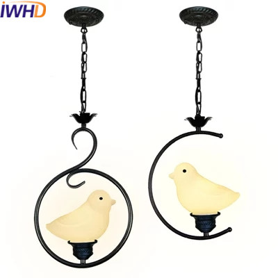 IWHD Glass Bird Hanglamp Led Pendant Lights Modern Home Lighting Fixtures Creative Iron Hanging Lamp Dining Room Luminaire global rom xiaomi mi5s mi5 s 3гб 64гб мобильный телефон snapdragon 821 quad core 5 15 ультразвуковой отпечаток пальцев nfc