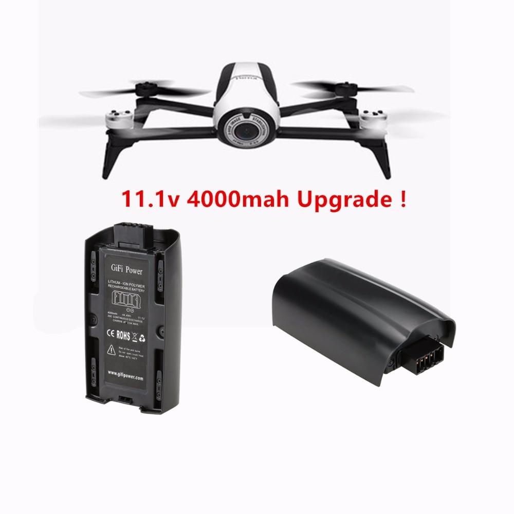 2 3 pcs 11 1v 4000mAh 44 4Wh 20C Parrot Bebop 2 0 Upgrade LiPo Battery