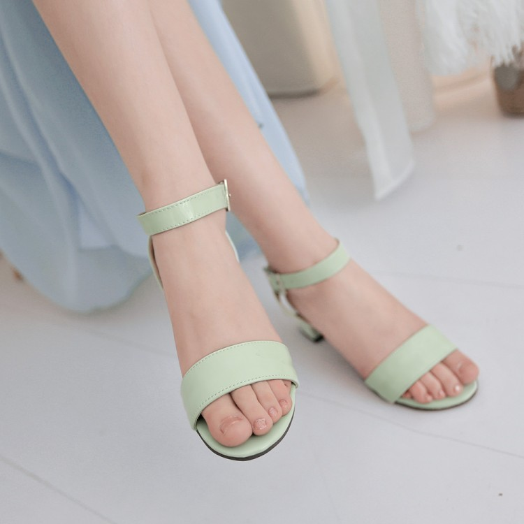 Big Size 10 11  12 13 14 15 16 17 18 19 high heels sandals women shoes Open-toed sandals with one word buttonBig Size 10 11  12 13 14 15 16 17 18 19 high heels sandals women shoes Open-toed sandals with one word button