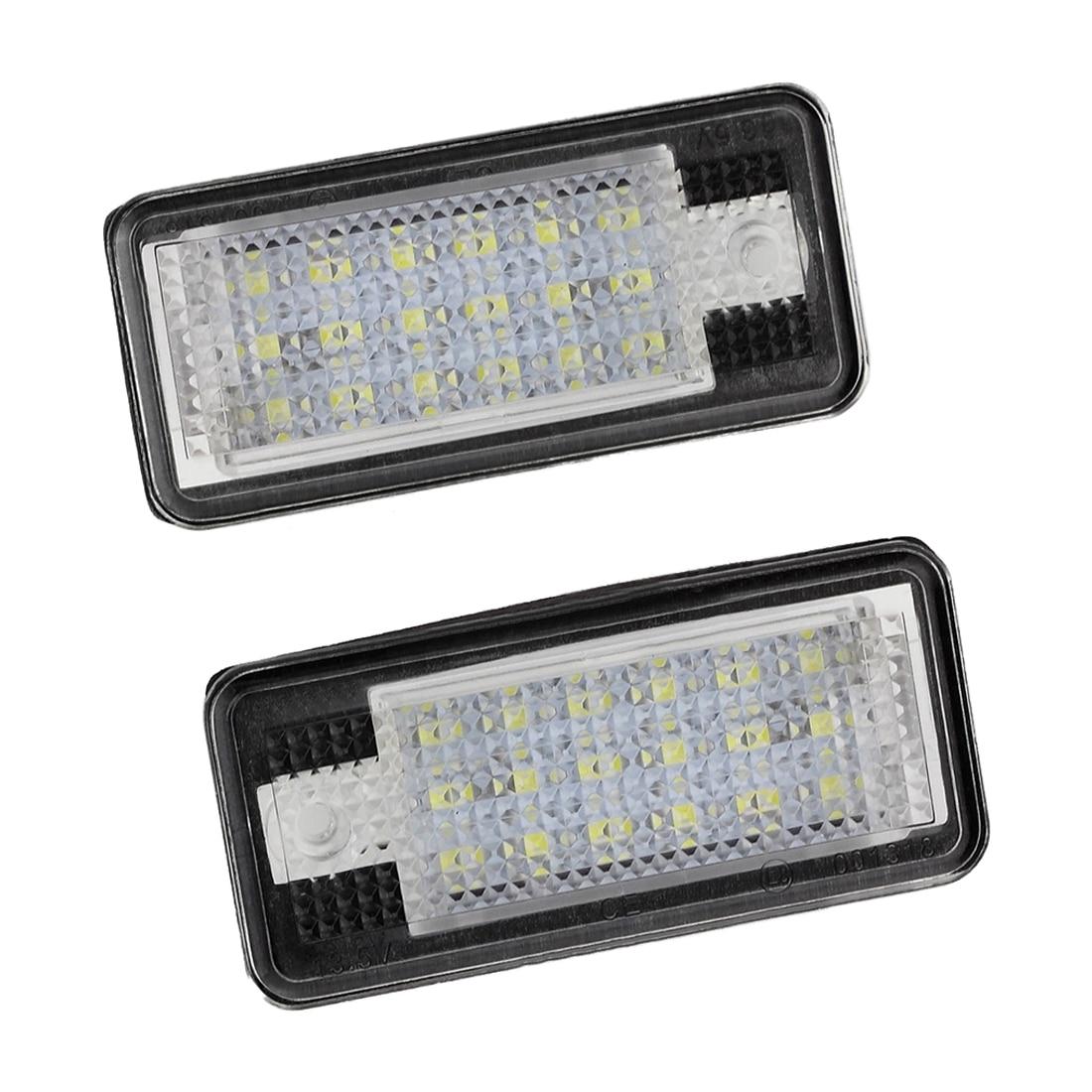 2x 18 LED License Number Plate Light Lamp For Audi A3 S3 A4 S4 B6 A6 S6 A8 S8 Q7 0001108175 0986018340 458211 new starter for audi a4 a6 quattro volkswagen passat 2 8 3 0 4 2 l