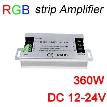 360 Вт светодио дный RGB усилитель DC12V 30A Алюминий RGB strip усилитель DC12-24V для RGB SMD5050 3528 Светодиодные ленты света усилитель сигнала >> Tightsen-Home Official Store