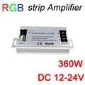360 W led RGB amplificador DC12V 30A Alumínio RGB amplificador tira DC12-24V para RGB SMD5050 3528 Tira do DIODO EMISSOR de luz de sinal amplificador