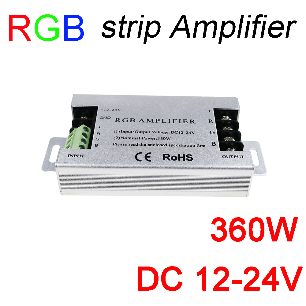 360w Led Rgb Amplifier Dc12v 30a Aluminum Strip Dc12 Circuits Reviews Online Shopping On 24v For Smd5050 3528 Light Signal In Controlers From