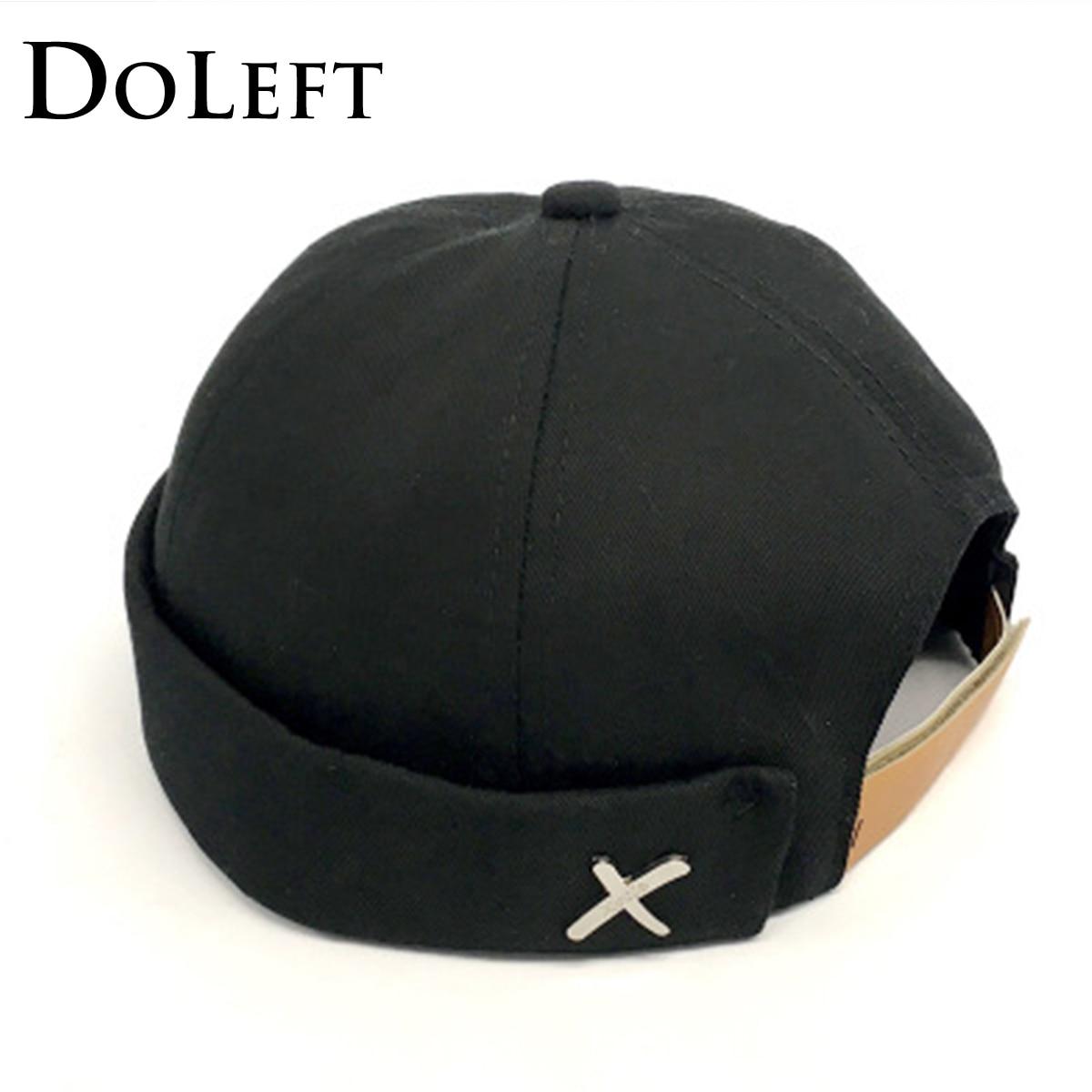 Solid Color Classic Street Docker Hats Retro Unisex Sailor Biker Melon Caps Men Hip hop Brimless Skull Loop   Beanie   Hat Snapback