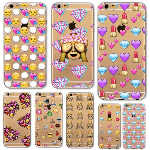 1fed1950c87 Flamingo Back Cover For Apple iphone 5 5s SE 6 6s 6plus 6splus funda Cute  Monkey Emoji Soft Sillicon Transparent TPU Phone cases