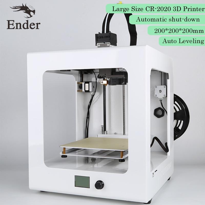 CR-2020 3D printer Auto Level Desktop 3D Printer Large Printing Size printer 3D KIT with 1KG Filament Creality 3D White color flsun 3d printer big pulley kossel 3d printer with one roll filament sd card fast shipping