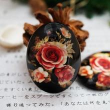 2 шт./лот круглый Овальный 10-40 мм цветочный стеклянный кабошон для браслета ожерелье женские серьги кольца брошь DIY ювелирные изделия ручной работы поставка