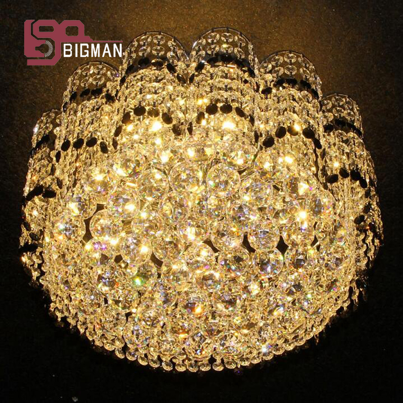 New Design Luxury Crystal Chandeliers Modern LED Ceiling Fixtures 2 Layers Large Living Room Lamp