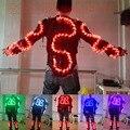 2015 caliente llevó láser trajes para hombre cantante DS etapa del club nocturno del dragón luminoso ropa etapa de colores de color ropa de la danza