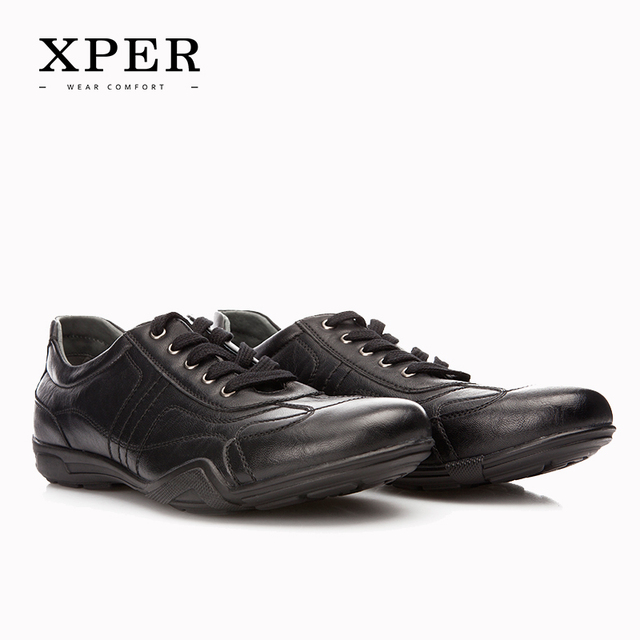 Размер 40 ~ 45 Мужчин Обувь Повседневная Обувь на шнуровке Дышащий Мода Бизнес XPER Марка # YWD821BL