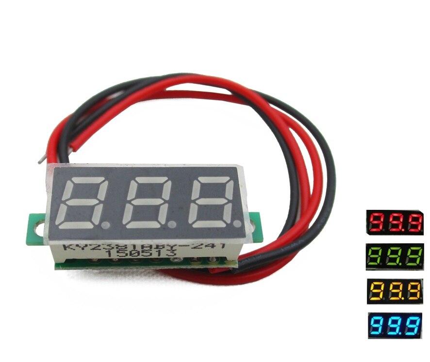 Mini Voltmeter Voltage Indicator Panel Meter DC 3,3-17V Red for Lithium Batter