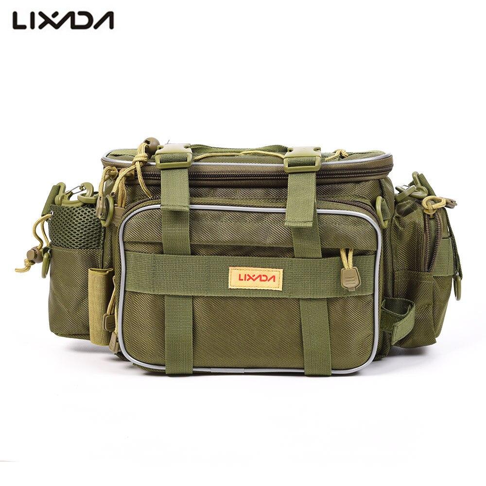 Men Outdoor Shoulder Bag Canvas Multi-functional Storage Fishing Camping Bag