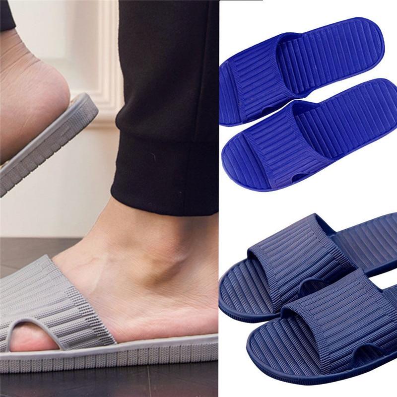 Men Summer Englon Antiskid Flip Flops Shoes Sandals Male Slipper Flip-Flops Beach Shoes Mans Footwear Terlik Kapcie 40FE05