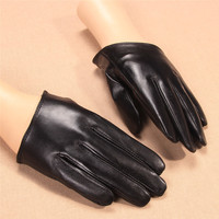 2017 New Summer Women Gloves Short Style Lady Genuine Leather Glove Fashion Trend Dance Driving Half