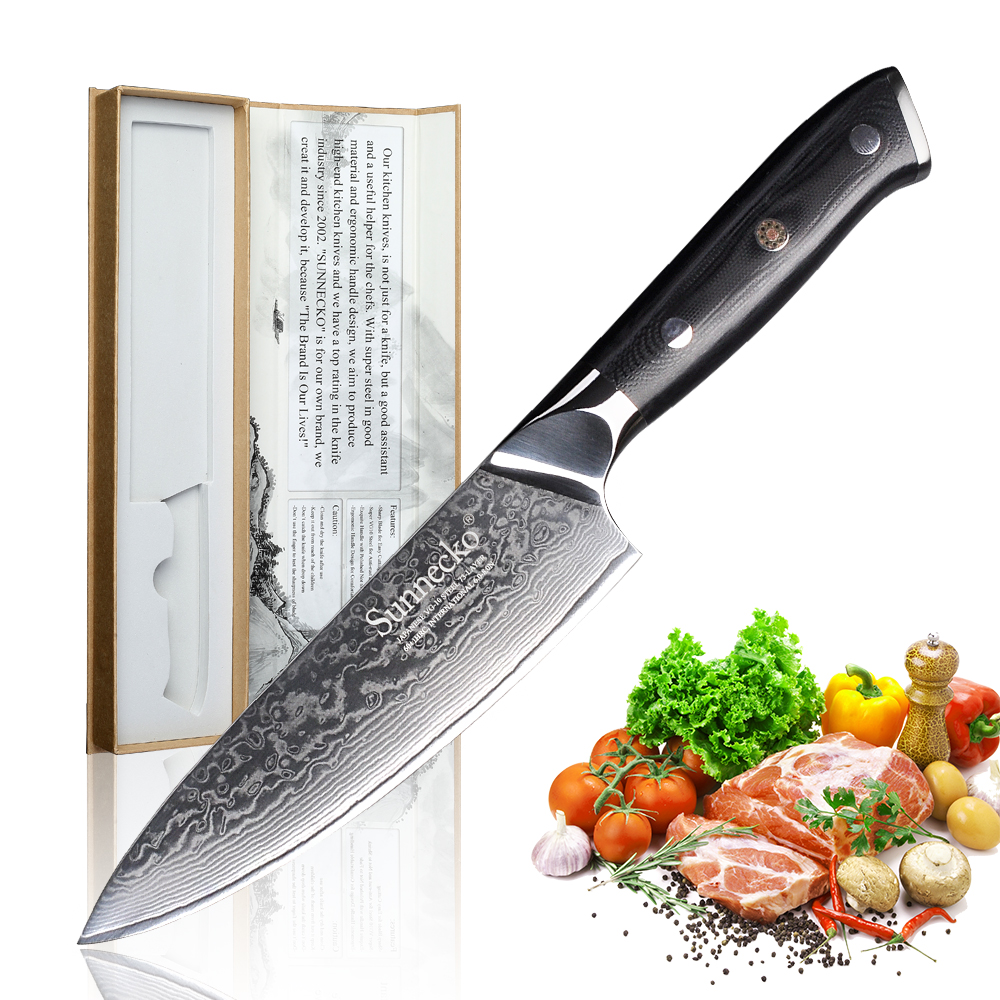 SUNNECKO 6 5 inch Chef s Knife Kitchen Knives Chef Knife Cutter Tools Japanese Damascus VG10