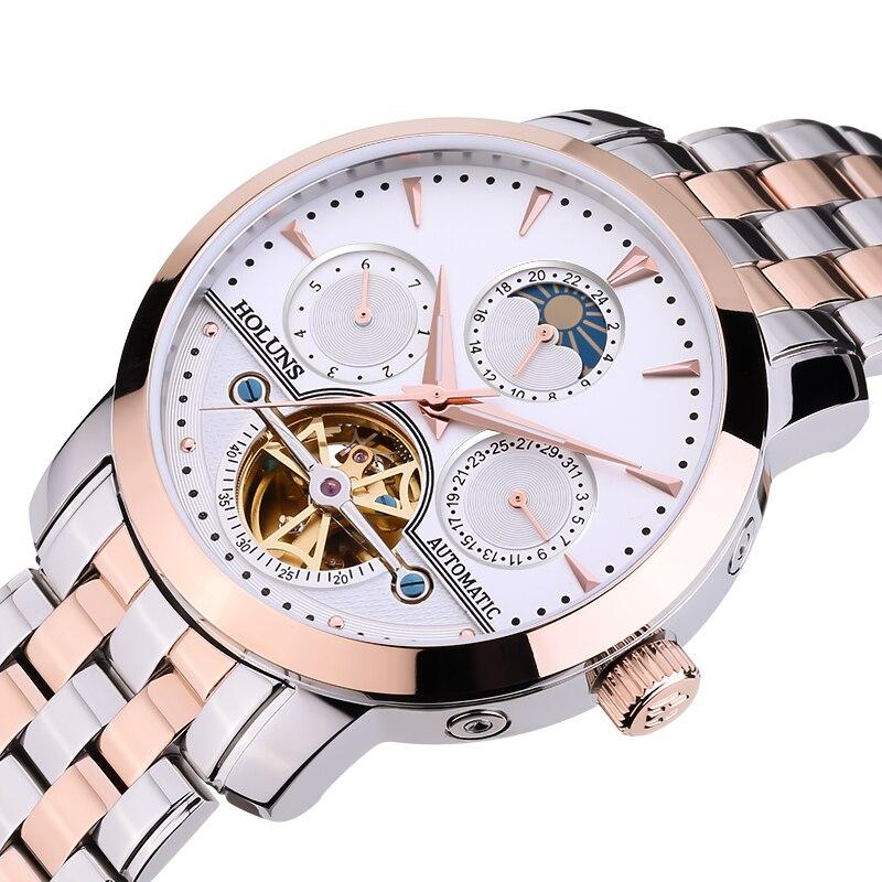Rose Gold นาฬิกาผู้ชาย Relogio Masculino 2019 Tourbillon นาฬิกากลไกอัตโนมัติ Mens นาฬิกาแบรนด์หรูนาฬิกาข้อมือธุรกิจนาฬิกา-ใน นาฬิกาข้อมือกลไก จาก นาฬิกาข้อมือ บน   1