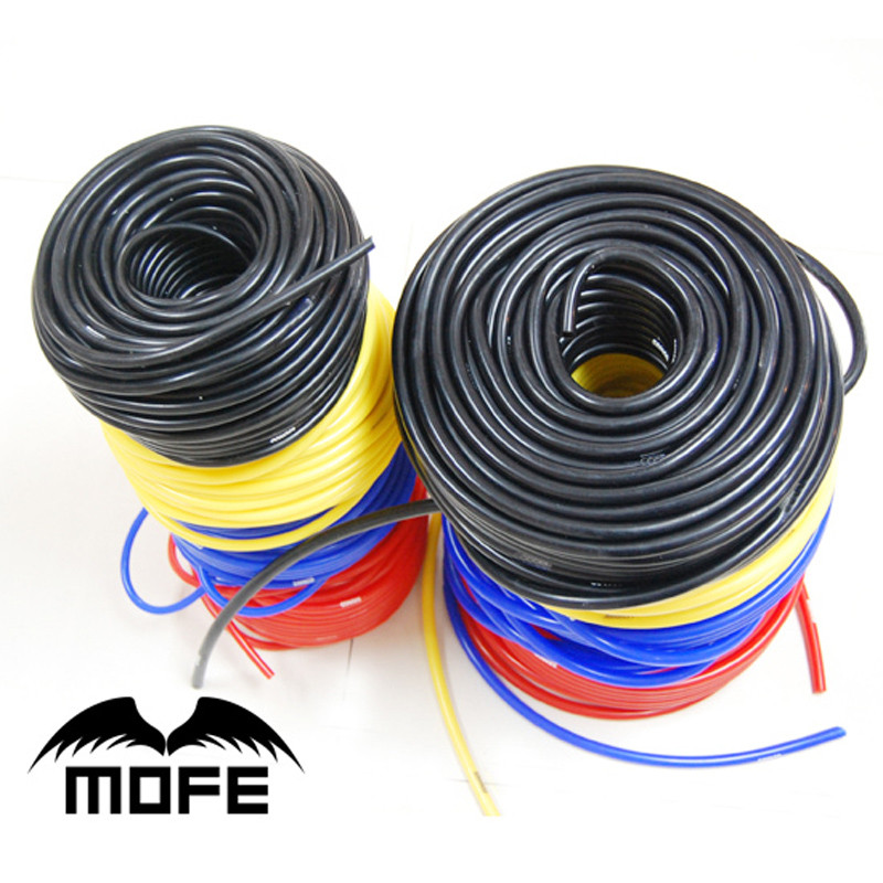 Universal Car Styling 100 Silicone 50METER ID 3MM Vacuum Hose Tubing Black Blue Red Yellow