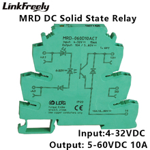 MRD-060D10ACT Mini PLC Interface Solid State Relay Module 10A 24-280VAC Ouput Input: 5V 12V 24V DC SSR Voltage Relay DIN Rail 100% new and original xgi d24b ls lg plc xgk series input module 28ns step