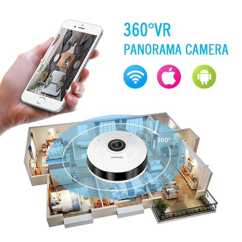 Meisort Fisheye VR Panoramiczna mini kamera WiFi 960PH sieć - Bezpieczeństwo i ochrona - Zdjęcie 4