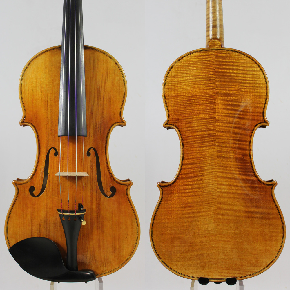 Copy Guarnieri 'del Gesu' Violin #182 Professional Violin Musical Instrument+Case, Bow,Rosin,Free Shipping!Aubert Bridge! master violin identity copy guarneri del gesuthe cannon1743 strong and deep tone free shipping aubert bridge no 3