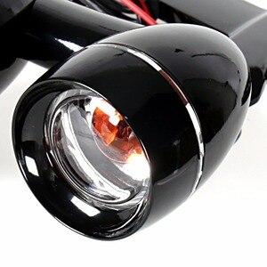 Image 4 - Czarny błyszczący Fairing zamontowane światła do jazdy kierunkowskazy dla Harley 1996 2013 Elctra przemieszczanie się po ulicy i 1996 2018 Road King