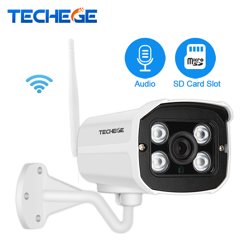 Techege 2 0MP Audio Record Wired Wifi Camera Waterproof Night vision 960P 720P wireless camera Motion