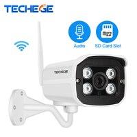 Techege 2.0MP grabar Audio Wired Wifi Cámara impermeable de la visión nocturna 960 P 720 p inalámbrico cámara de detección de movimiento de tarjetas SD ranura