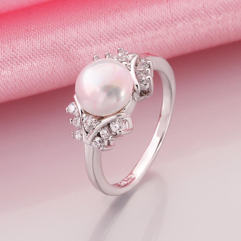 INALIS Hot Fashion White Pearl Jewelry Rings for Women Elegant ...