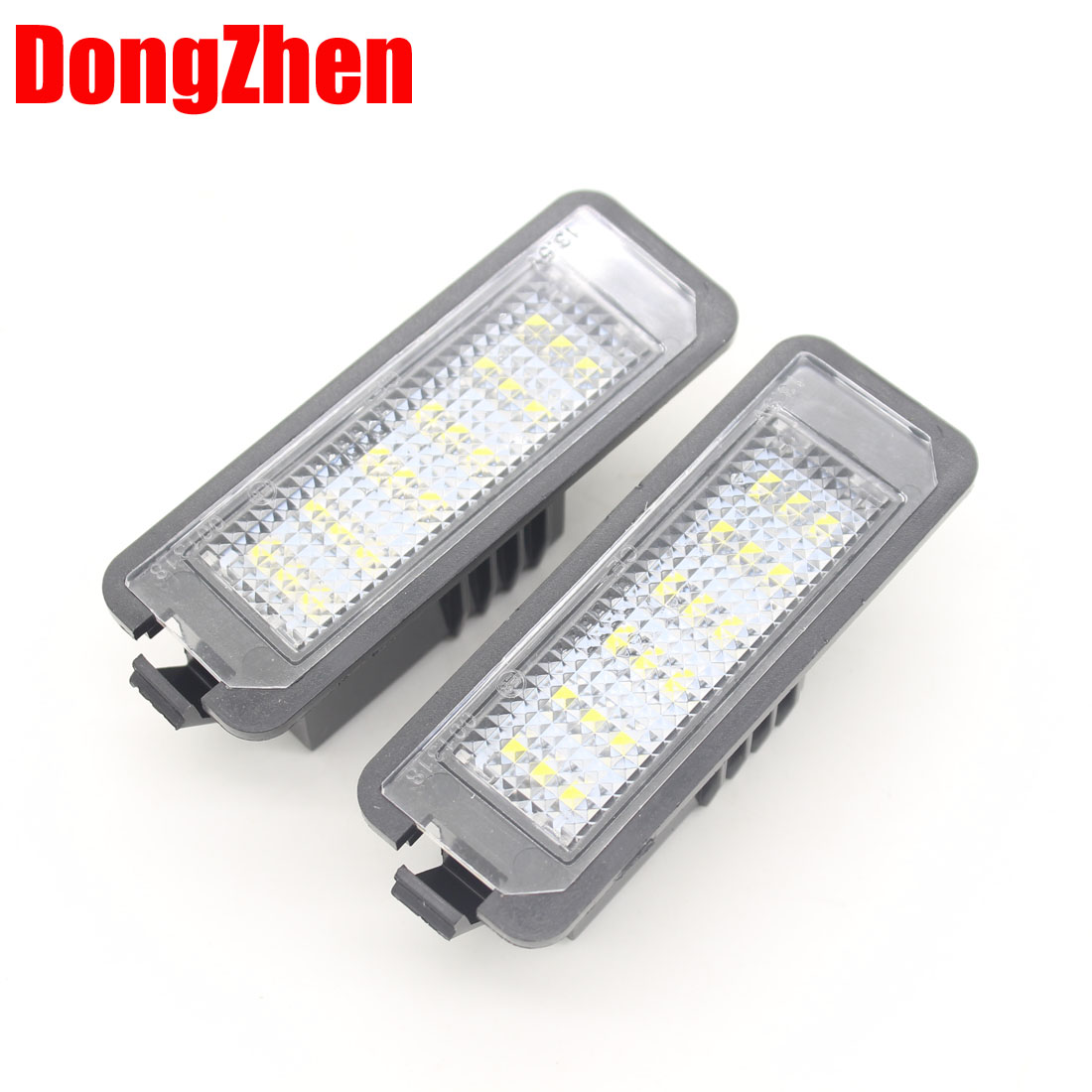 DongZhen auto accessories car styling Fit for Golf4 Golf5 Passat Polo LED License plate lights Free shipping  2pcs 2pcs led rear back car license plate light lamp for vw golf4 golf6 polo passat car super white bright 12v car styling
