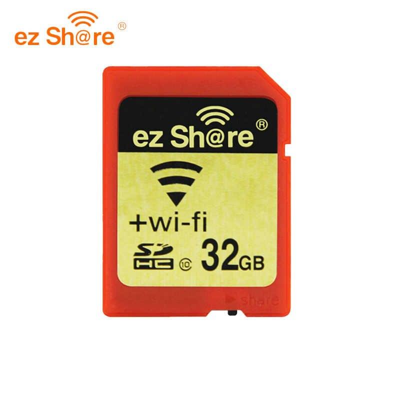 D'origine EZ partager la Mémoire sd wifi 32 gb 16G sans fil Carte De L'action 4g 8g Classe 10 64g 128g pour canon/nikon/sony carte Livraison carte reade