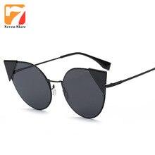 Moda Cat Eye Sunglasses Mujeres Diseñador de la Marca Gafas de Sol Para Las Señoras de La Vendimia Oculos Espejo Shades Mujer Lunette de Soleil