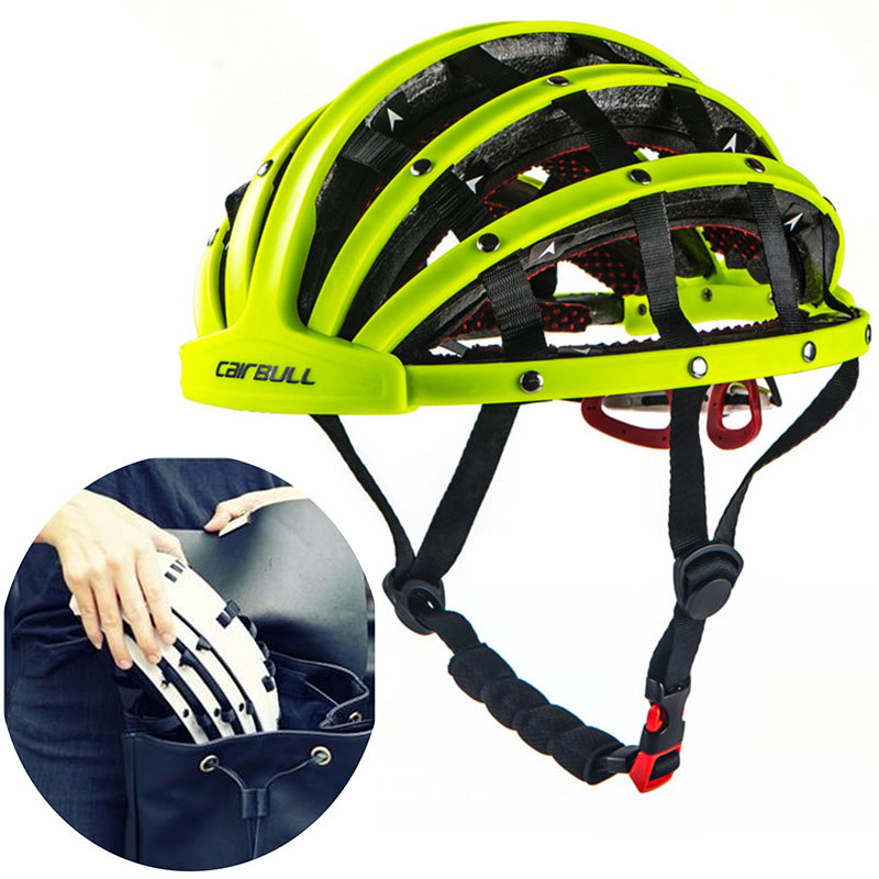 CAIRBULL New Foldable City Bike Helmet Road Cycling Bicycle Portable Helmet Riding Mens Racing In Mold