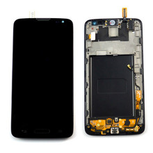 Black For LG L90 D405 D415 LCD Display Touch Screen Digitizer with Bezel Frame Assembly Replacements