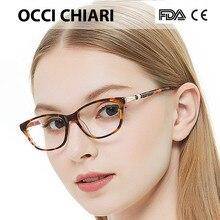 OCCI CHIARI yüksek kalite İtalya tasarımcı Metal süslemeleri gözlük çerçeve kadın optik gözlük çerçeveleri el yapımı tırnak