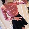 2017 новый кашемировый свитер слово воротник пуловер вязаный свитер женщин с длинным рукавом повседневный свитер