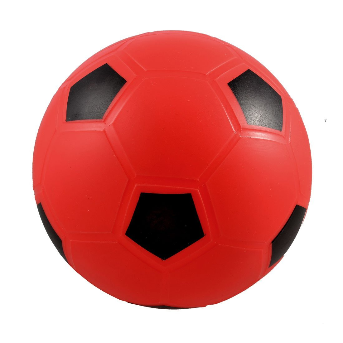 LCLL-SODIAL(R) 5.5 Inflatable Dia Red PVC Football Soccer Toy For Children Kids